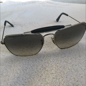 Ray-Ban Gray Square Aviator Sunglasses